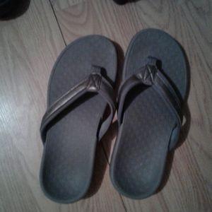 Silver/grey Vionic sandals